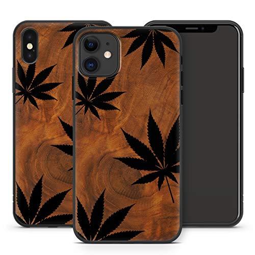 Handyhülle Weed für iPhone Apple Silikon MMM Berlin Hülle Gras Marihuana Cannabis Hanf, Kompatibel mit Handy:Apple iPhone 12 Pro Max, Hüllendesign:Design 1 | Silikon Schwarz