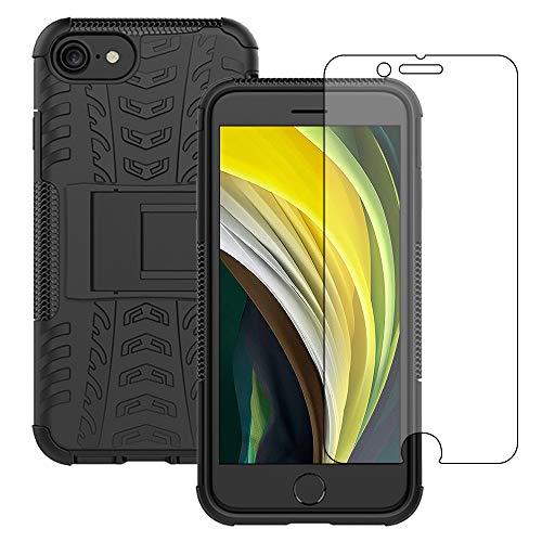 Yiakeng Funda iPhone SE 2020/iPhone 7/8 Carcasa y Protector Pantalla, Silicona a...