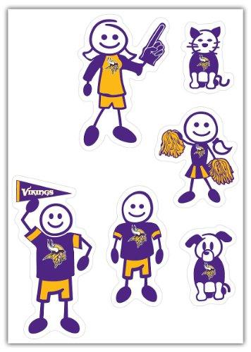 NFL Siskiyou Sports Fan Shop Minnesota Vikings Family Decal Set Small One Size Team Color