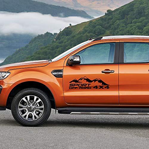 Auto Pegatinas de Calcomanías, para Ford Ranger Raptor, para Navara, para Hilux, para Chevrolet Silverado Sierra