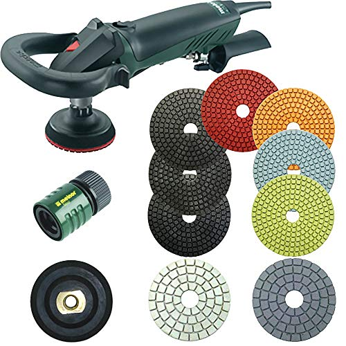 Find Bargain Metabo 4 Inch Wet Polishing Kit – Complete with Full Set of DIG4 Polishing Pads for Granite Polishing – Bundle – 12 Items