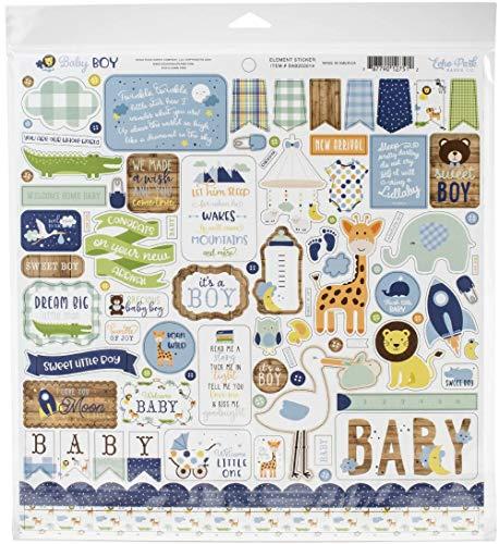 ECHO PARK PAPER COMPANY COLECCIÓN Baby Boy 12X12 Kit, Azul, verde, menta, amarillo, talla única