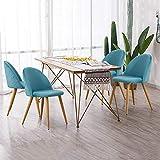 Tukailai - 4X sedie Imbottite per Sala da Pranzo e Cucina, Ufficio, Salotto, Sala riunioni...