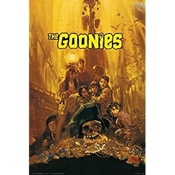 V606 The Goonies Movie-Treasure Art fabric poster24x36 12x18in room decor print