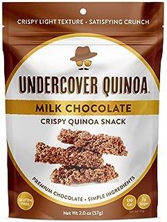 Undercover Quinoa Milk Chocolate Crispy Quinoa Snack 8 Count Case of 2 oz. Bags