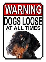 警告犬はいつでもゆるい 金属板ブリキ看板警告サイン注意サイン表示パネル情報サイン金属安全サイン