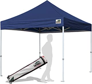 Eurmax 10'x10'Pop Up Canopy Tent Commercial Shelter with Heavy Duty Roller Bag(Navy Blue)