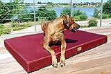 tierlando® Mobile Hundematratze HUGO BASIC   Gehobene Stabilität & Qualität!   Anti-Haar Polyester   L 100 x 80 x 13 cm   Graphit Grau - 6