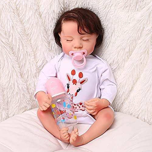 WBias&Belief Reborn Baby Dolls - Muñeca de silicona hecha a mano de 17 pulgadas para niña que se ve real ojo cerrado dormir bebés niños regalo juguete