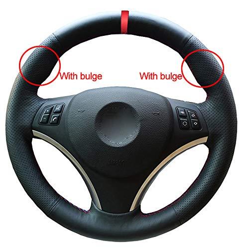 ZYFXT Para Coser a Mano Cubierta del Volante del Coche Marcador Rojo para BMW E90 320I 325I 330I 335I E87 120I 130I 120D Estilo de Coche cómodo