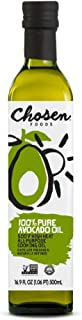 Chosen Foods 100% Pure Avocado Oil 16.9 oz., Non-GMO for High-Heat Cooking, Frying, Baking, Homemade Sauces, Salad Dressings and Marinades