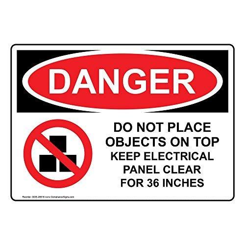 wendana gevaar niet plaatsen objecten op de top houden elektrische paneel duidelijk voor 36 inch teken, grappige tin metalen waarschuwingsborden voor eigendom, aluminium, poort teken, hek teken buiten,8