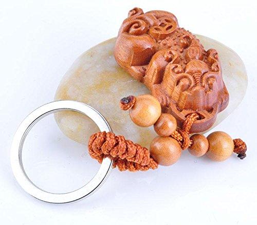 MZP La bonne fortune Keychain petits créateurs courageux bois de rose courageux cadeaux porte-clés pendentif porte-clés pratique