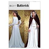 McCall's Patterns B4377 Butterick - Patrón para Vestido de Mujer (Tallas 42, 44, 46 y 48), Color Blanco