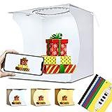 PULUZ Aggiornamento 20 cm Mini 3 Modalità Dimmerabile LED Anello Light box Lightbox Photo Studio Box Fotografia Studio Luce di Tiro Tenda Box Kit & 6 Fondali Colori