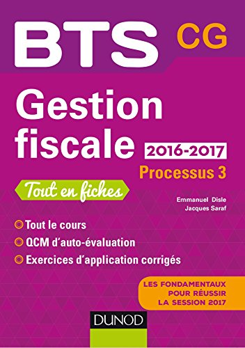 Gestion Fiscale 2016 2017 Processus 3 Bts Cg 2e Ed
