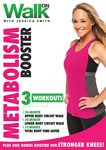 Walk On: Metabolism Booster DVD with Jessica Smith, Walking at Home Plus Total Body Circuit Strength Training for Women and Bonus Strong Knees Routine, Beginner, Intermediate Level