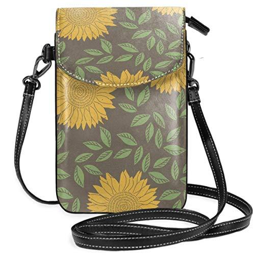 XCNGG Cartoon Daisy Cell Phone Purse Crossbody Bag Pouch Shoulder Bags Wallet For Women Girls Travel Wedding