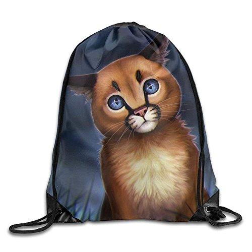 Etryrt Premium Drawstring Bag, Leopard Cat Lightweight Drawstring Bag Sport Gym Backpack Gym Bag For Men And Women