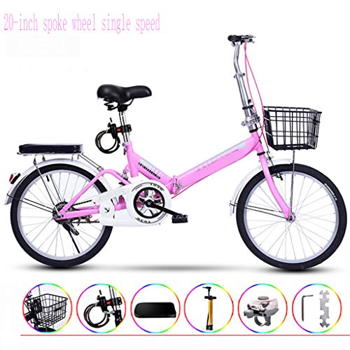 Ultralight Portable Folding Bike for Adults with Self Installatie 20 Inch één wiel Single Speed