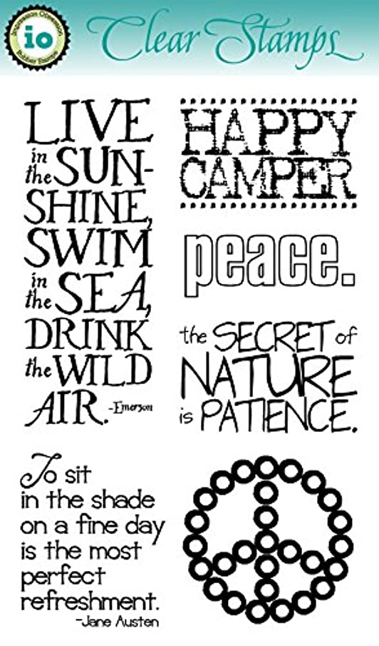 Impression Obsession IO Clear Stamp Set - Peace - CL509