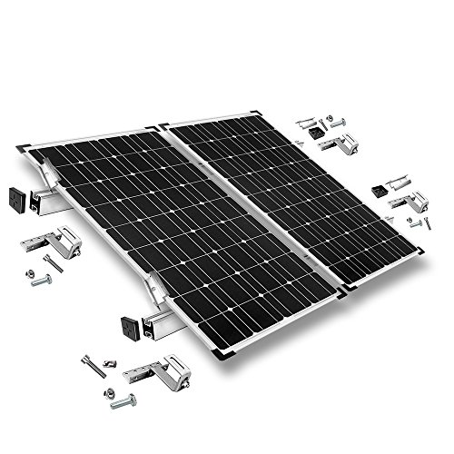 Offgridtec© - Kit de fijación para 2 módulos solares para tejas