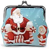 Monederos Papá Noel y niños Imprimir Bolso de Mujer Beso-Cerradura Cambiar Monedero Carteras