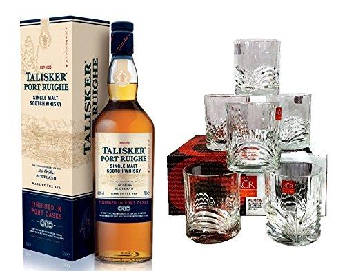 Talisker Port Ruighe + 6 Tumbler Single Malt Scotch Whisky 45,8% 0,7l Flasche