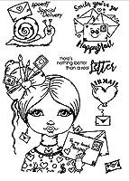 女の子透明クリアシリコンスタンプ/DIYスクラップブッキング/フォトアルバム用シール装飾クリアスタンプシートA1768