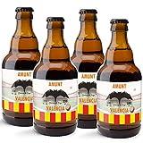 CEREX pack de 4 cervezas artesanales FUTBOL VALENCIA cerveza especial de trigo doble fermentacion cerveza alemana ideal regalo