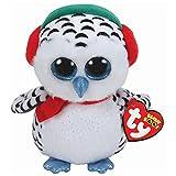 TY 36221, Schneeeule 15cm Nester OWL Boo Xmas 2018, Multicolored