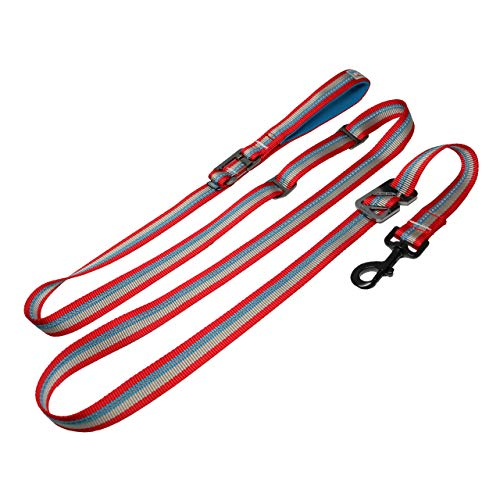 Kurgo Walk About No Pull Leash Convert Leash to Harness for Quick Control Hands-Free Leash Includes Leash Cleat Reflective Padded Handle 86' Long