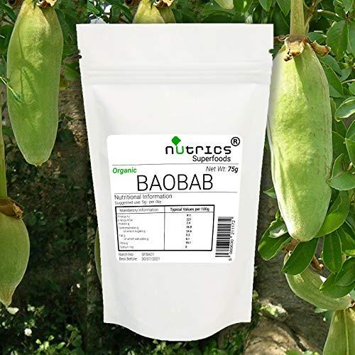 Nutrics® 100% Pure Organische Baobab Fruit Poeder 200g Zuidelijk Afrikaans Superfood - Nutrics Superfoods