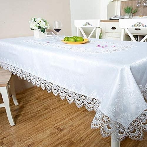 Family Life Equipment Tischdecke White Lace Tischdecke für Table Rectangular Tapete Home Geburtstag Tischdecke Wasserdicht Simple Arrow Nappe De Table Rectangulair ( Farbe : Weiß Spezifikation : 18