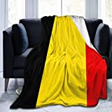 LAVYINGY Couch Wrap,Shaggy Blanket Throw,Throw Blankets,Microfleece Blanket,Belgium Flag Men & Women Flannel Blanket For Sofa Bed Home Office(50'x60')