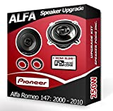 Pioneer Altavoces para Puerta Delantera de Alfa Romeo 147Coche Altavoz + Aros adaptadores, 240W
