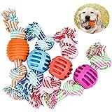 DESON 4 Stück Hundespielzeug Ball am Seil...