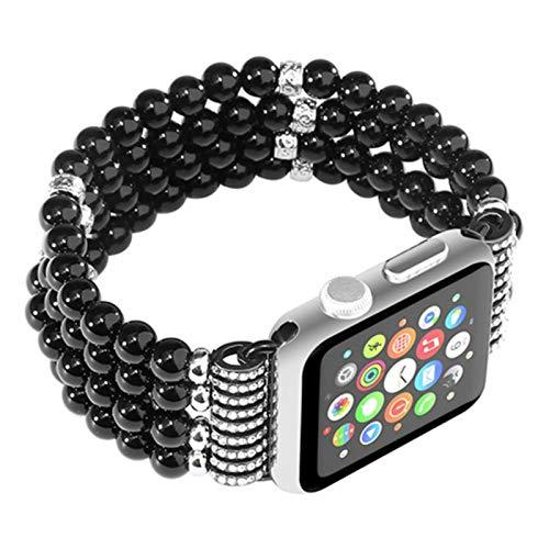Correa de perlas para Apple Watch Band 4 5 6 SE 44mm 40mm Pulsera multicolor para iwatch series 3 2 1 38mm 42mm Accesorios de reloj