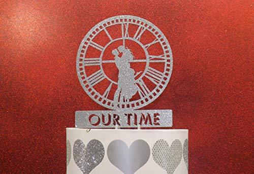 Ad4ssdu4 Unser Stempeluhr-Turm-Kuchendeckel personalisiert mit Ihrem Namen oder Phrase Braut und Bräutigam vor Dumbo