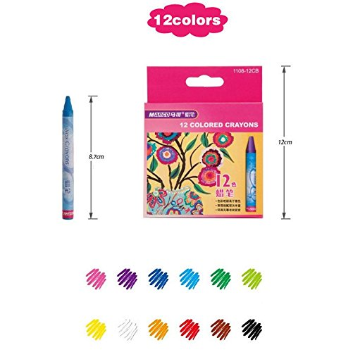 Home Office U.D. - Art Supplies Bulk Painting Colored Pencils Drawing Wax Crayons Oil Pastels for kids 12 Count