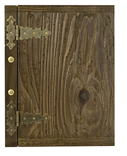 Cristal Edele Holz Speisekarte Karte Menü-Karte Brauhaus Kartenmenü Speisekarte A4 047 Holzwurmoptik