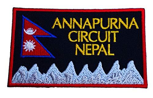 Parche bordado de Annapurna Circuito Nepal (3.5 pulgadas) para planchar o coser en Asia Mountain Trek