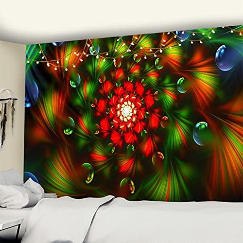 RichAmazon Tapiz de mandala para colgar en la pared india 3D jade decoración del hogar sala de estar fondo alfombra de pared tela hippie manta gt321-4,200x150 cm