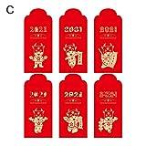 CFPacrobaticS-UK A-03 M Briefumschlag, 2021, Ochsenjahr, Rot, dick, Cartoon-Persönlichkeit,...