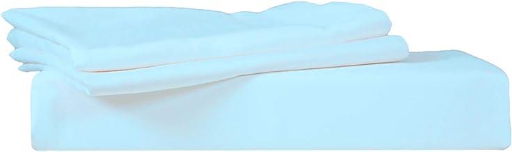 ملاءة سرير من جاست لينين 300 TC من القطن بنسبة 100% مع أغطية وسائد Twin 2724666707179