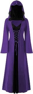 LONGDAY Gothic Cosplay Dress Vintage Celtic Medieval Floor Length RenaissanceWomen's Size Deluxe Hooded Robe