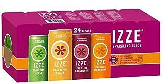 IZZE Sparkling Juice 4 Flavor Variety Pack 8.4 oz Cans 24 Count [並行輸入品]