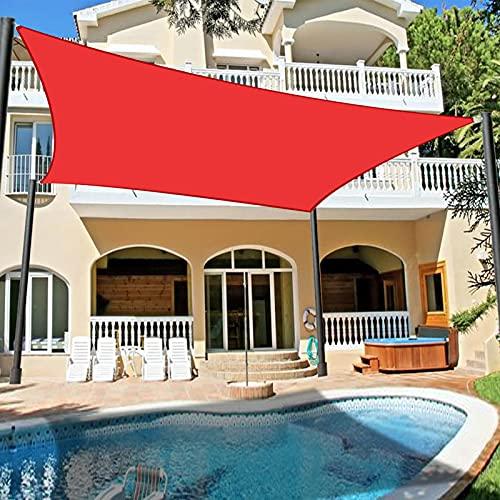 YUDEYU Exterior Vela de Sombra Toldos Vela Solar Canopy rectángulo Tela de Oxford Proteccion Solar Anti-UV Paño Impermeable Red de sombreado (Color : Red, Size : 3 x 4m)