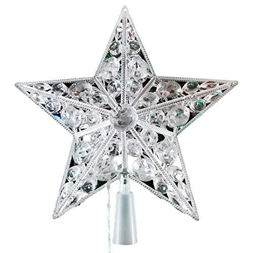 Ishine Estrella de árbol de Navidad, decoración de árbol de Navidad, proyector de estrella LED, luz de árbol de Navidad, lámpara reemplazable duradera, decoración para Navidad decoración del hogar