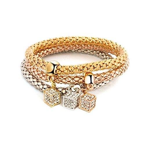 NOVADAB Trio Charm Bracelet, Bracelet for Women (Roll The Dice Trio)